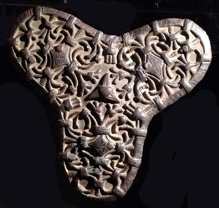 Viking age / Decorated trefoil brooch./University of Lund Museum