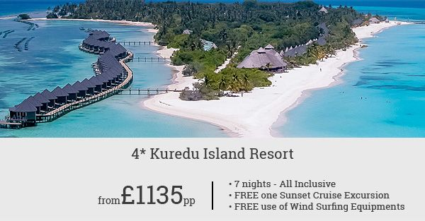 Ready for a 7 night All  Inclusive Holiday in the Maldives?Stay at the wonderful Kuredu Island Resort within your budget. The offer starts from £1149pp.