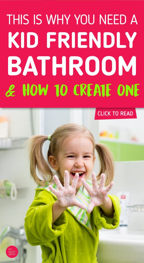 Boost your child independence by creating a safe and easy to use bathroom space. Read why you need a kid friendly bathroom and frugal ways to create one. | child development | new parent advice | kids | toddlers | kid bathroom | #kids #momlife #parenting #bathroom