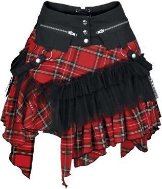 """Mini jupe """"KuroNeko"""" -  """"Check cat skirt""""   Mini jupe en tartan avec volants…"""