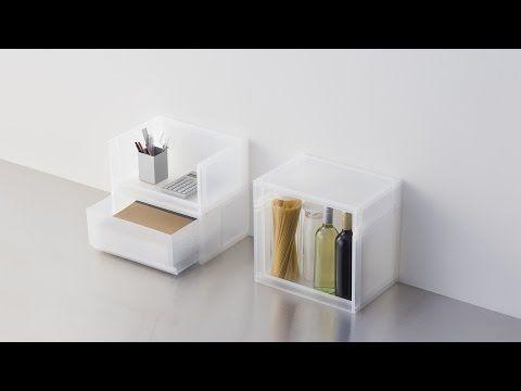 MUJI無印良品: Compact Life( ポリプロピレン収納│Polypropylene storage) - YouTube