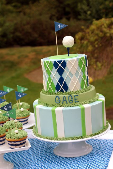 """Photo 32 of 48: Golf / Birthday """"Gage is FORE...and a half!"""" 