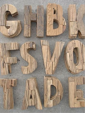 Rustic Wood Letters from Raw Materials | Friday Favorites at www.andersonandgrant.com