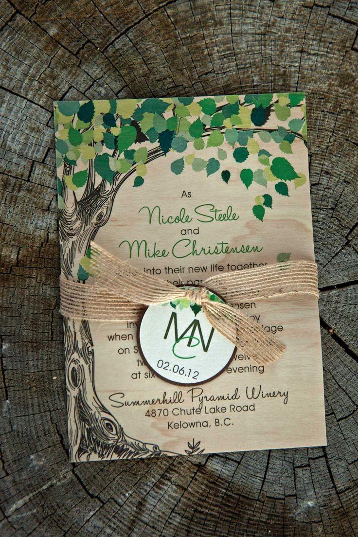 realtree wedding invitations%0A A NatureInspired Wedding in Kelowna  British Columbia