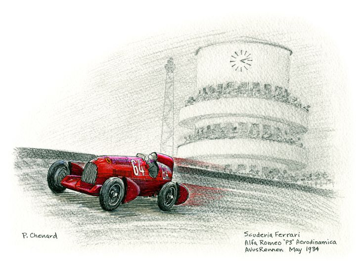 Art from the book: Avus-Rennen Formule Libre – May 27th, 1934. Available as a limited edition.