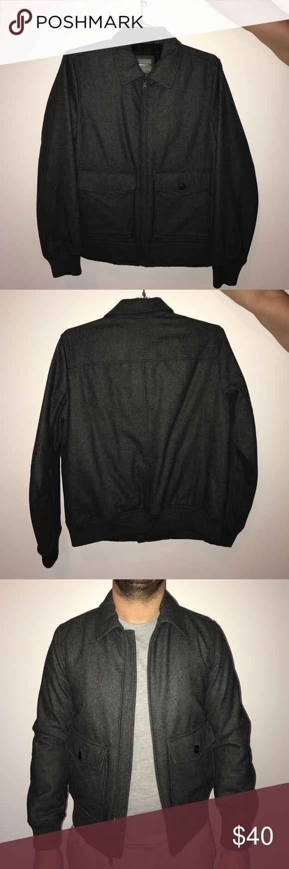 Gap Wool bomber jacket Gap dark gray wool bomber jacket. Never worn GAP Jackets & Coats Bomber & Varsity