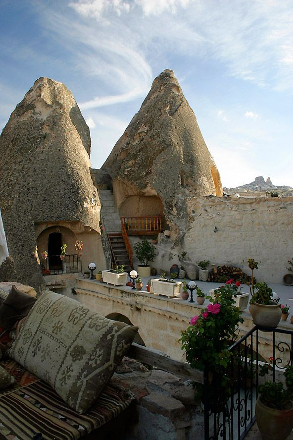 This is very cool--definitely will stay there if I ever go to Turkey (which isn't likely but you never know). Also, good idea if you have a cave!  Room 6, Fairy Chimney Room :: Kelebek Cave Hotel, Cappadocia