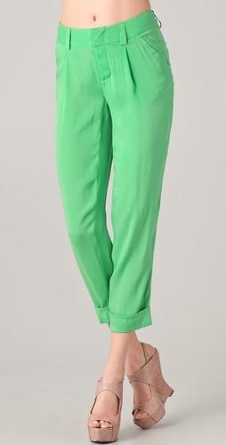 green pants. yup.