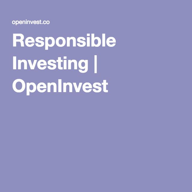 Responsible Investing | OpenInvest