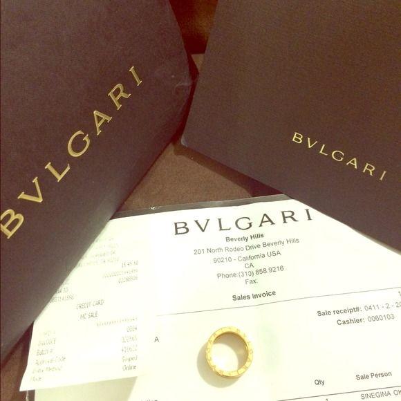 bvlgari b zero1 ring k18 3band