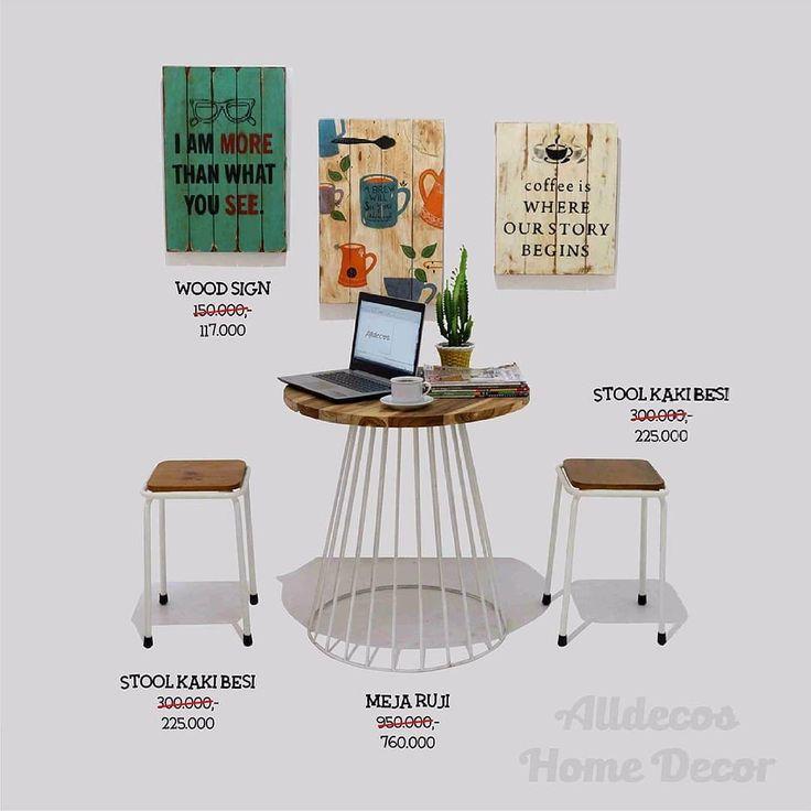 Wohoooow! Penampakan diskon hari jum'at nih.  #stool #stoolmurah #stoolbesi #stools #woodsign #posterkayuvintage #posterkayu #coffeetable #coffeetablebesi #coffeetables #diskonhariini #diskonakhirtahun #diskon
