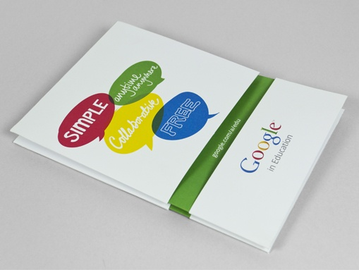We produced a simple concertina booklet to explain the benefits of Google in Education to educators.