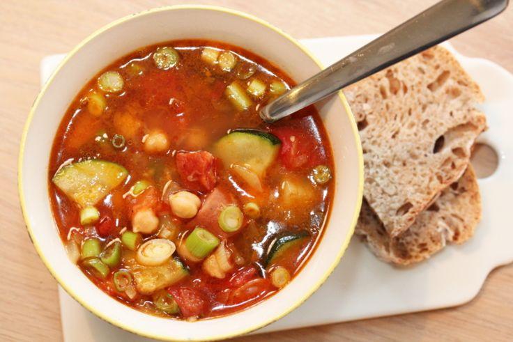 Kjapp suppe med chorizo, squash og kikerter - TRINEs MATblogg