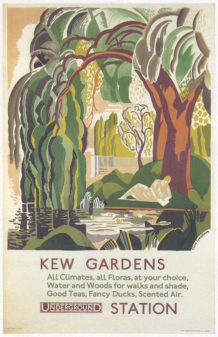 """By Underground to Kew. London Transport Posters 1908 to the Present"" by Clive Gardiner Via: On the Present Tense Blog by Ana Montiel"