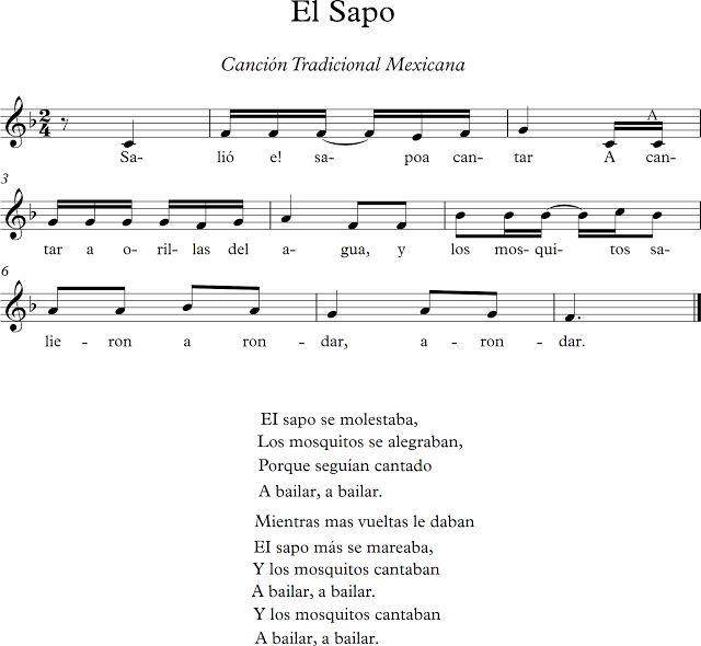 El Sapo. Canción Tradicional Mexicana.