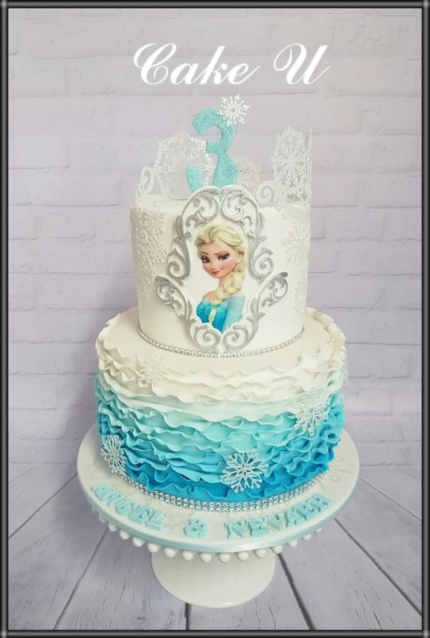 Frozen Themed Cake - Cake by Veronica                                                                                                                                                                                 More