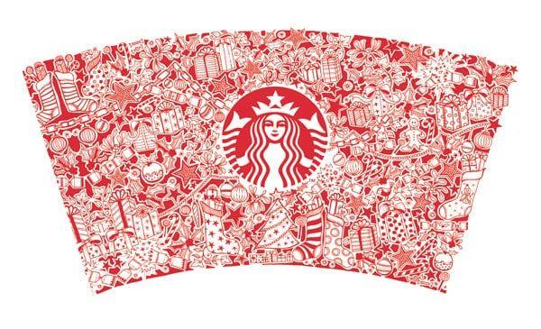 The Starbucks Christmas Cup Johanna Basford Starbucks Coffee Cup Starbucks Christmas Cups Starbucks Christmas