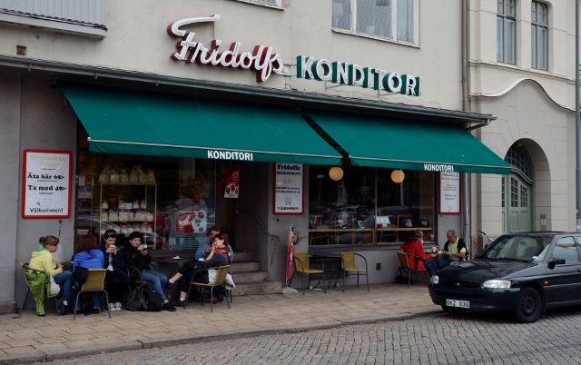 Kurt Wallander's favourite cafe, Ystad, Sweden