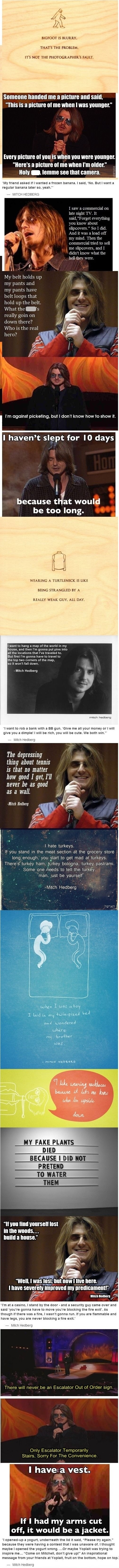 Mitch Hedberg. King of the one-liner.
