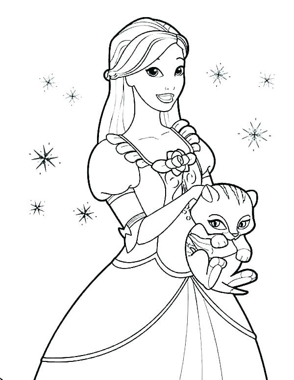 Barbie Coloring Pages Princess Coloring Pages Disney Princess Coloring Pages Barbie Coloring