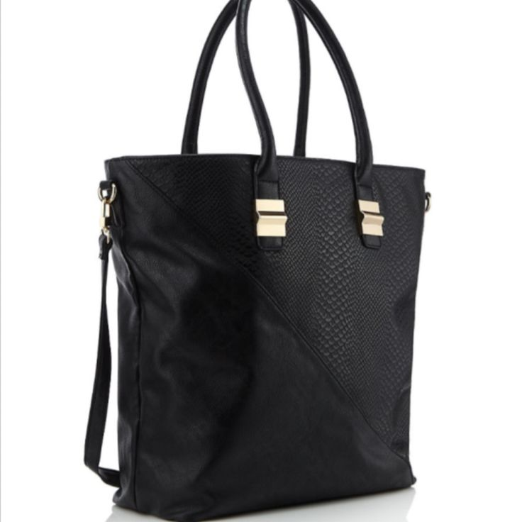 TO BUY: M&S - Limited Edition: Faux Leather Shopper Bag £35