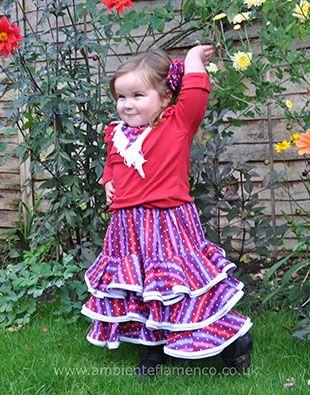 Handmade Children's Flamenco costumes at www.ambienteflamenco.co.uk