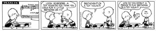 April 23, 1953 - Beethoven on toy violin