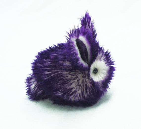 Hey, I found this really awesome Etsy listing at https://www.etsy.com/listing/156628045/violet-the-purple-and-white-bunny-rabbit