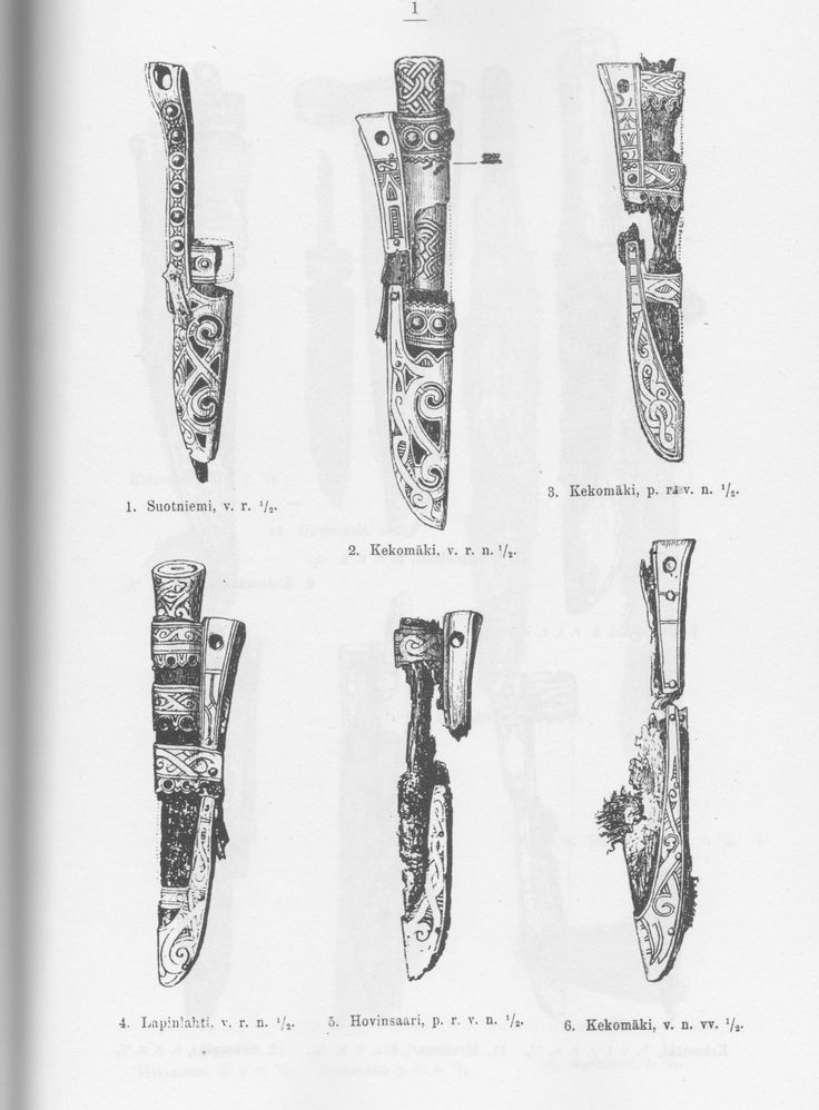 Knife finds from viking age Finland. (Käkisalmi, Ladoga Karelia)