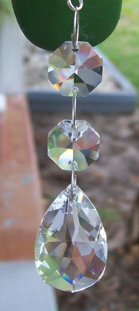 Rear View Mirror Car Charm Chakra Crystal By Weddingbridaldecor