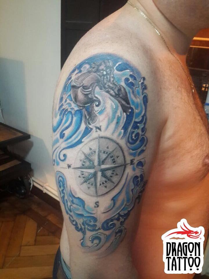 Compass Tattoo, Aquaris Tattoo, Poseidon Tattoo, Kova Burcu Dövmesi, Pusula Dövmesi, Poseidon Dövmesi  Dövme, piercing, kalıcı makyaj randevularınız için +90 212 293 36 35 numaralı telefondan bizlere ulaşabilir, Şehit Muhtar Mah. İmam Adnan Sk. No:19 Beyoğlu / İstanbul adresine uğrayarak stüdyomuzu ziyaret edebilirsiniz. #tattoo #dragon_tattoo #dragontattoo #supply #tattoo_art #tattooart #art #ink #istanbul #dövme #forevertattoo #art #compasstattoo #poseidontattoo