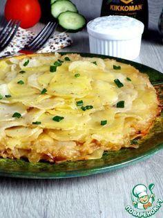 Картофельно-луковый пирог