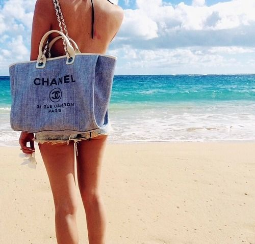 The beach + Chanel > my 2 favs