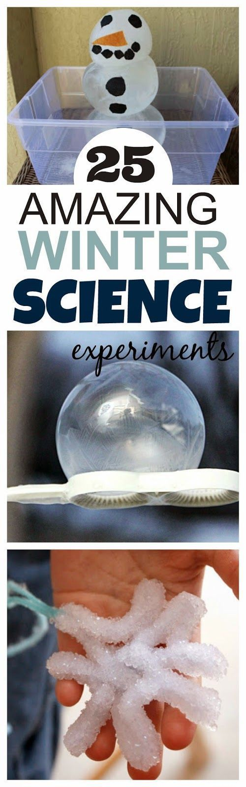 Fall in love with Science this Winter with these AMAZING experiments for kids. So many fun ideas I can't wait to try them all!