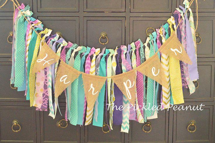 Burlap Birthday Banner Nursery Burlap Banner Name Banner Burlap Bunting Burlap Garland Happy Birthday Highchair Banner Nursery Name Banner by ThePickledPeanut on Etsy https://www.etsy.com/listing/268579798/burlap-birthday-banner-nursery-burlap
