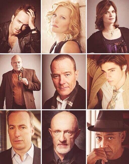 Jesse Pinkman, Skyler White, Marie Sharader, Hank Sharader, Walter White, Walt Jr(Flynn) White, Saul Goodman, Mike , Gustavo Fring
