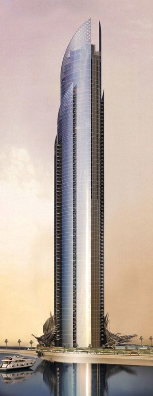 D1 Tower & Canopy, Dubai, UAE by Innovarchi Architects :: 80 floors, height 284m :: under construction