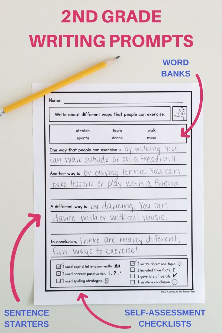 15 Second Grade Writing Prompts