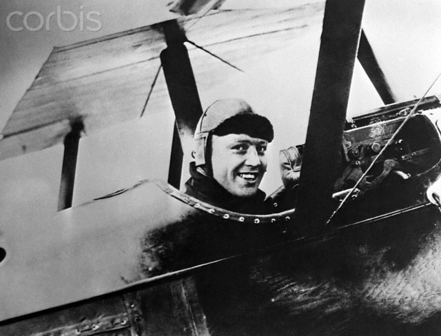 "Royal Air Force flying ace, Lt. Raymond Collishaw in the cockpit of his Sopwith Camel fighter, nicknamed ""Black Maria"" in 1918. Collishaw ended World War I as the third highest ranked British ace with a total of 60 kills."