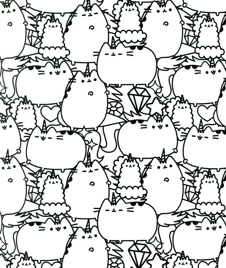 28++ Pusheen coloring pages cute ideas