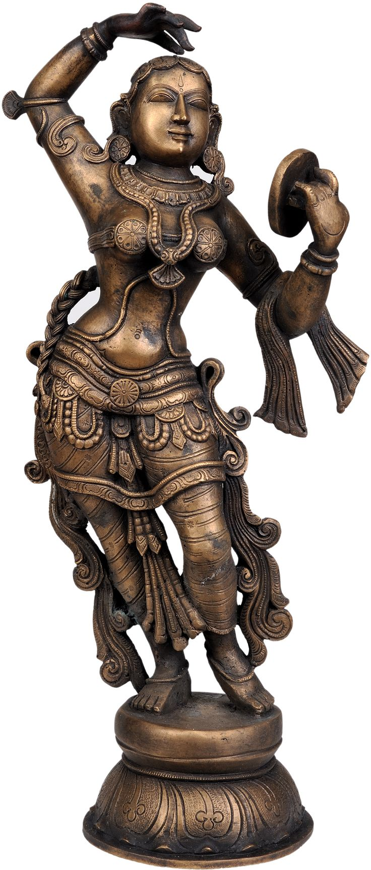 The Apsara Applying Vermillion (A Sculpture Inspired by Khajuraho)