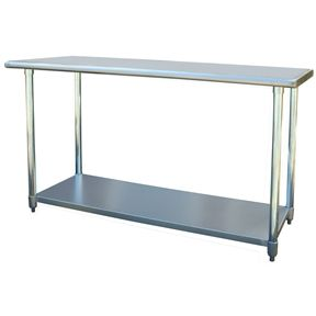 Contemporary 2Ft x 5Ft Stainless Steel Top Workbench Utility Table | Top Home Decor Expo