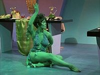 """One of her more memorable roles came in 1968 when Yvonne Craig appeared on Star Trek as Marta, a green-skinned Orion slave girl in the third season episode """"Whom Gods Destroy"""" (1968)"""