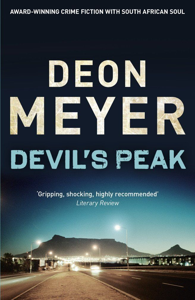 Devil's Peak by Deon Meyer. Thobela knows only despair...and a cold desire for revenge. Thus is born the vigilante killer known as 'Artemis'. The police respond by putting on the case a man who can't afford to fail. Benny Griessel is on the brink of losing everything -- his job, his family, his self-respect -- and this could be his last chance to drag his life back out of the gutter. Always enjoy Deon Meyer.
