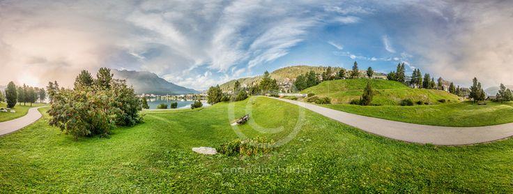 360 Grad Panorama, St.Moritzer See, St.Moritz, Schweiz