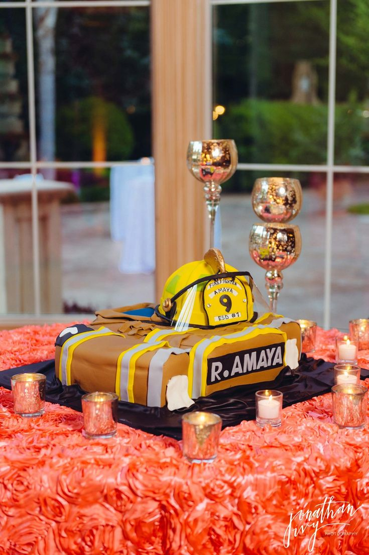 Firefighter Grooms Cake Fireman Groomscake