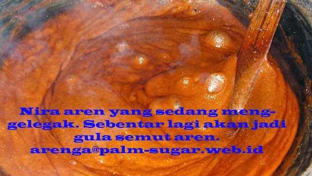 It is sap evaporation process to become palm sugar.