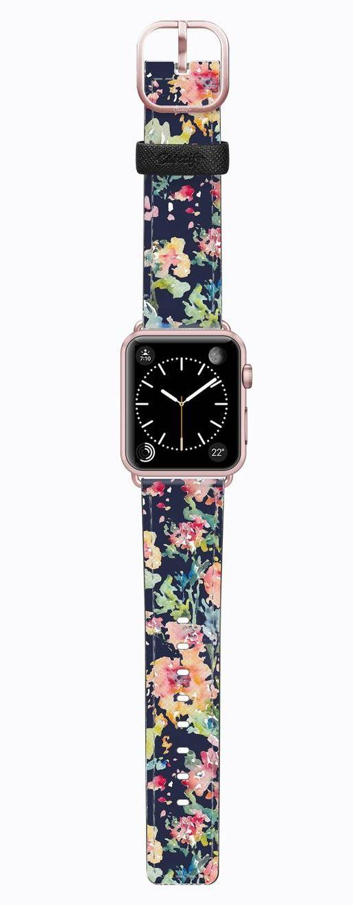 Impart some personality to your Apple Watch with this sleek and scratch-resistant Saffiano leather strap available in a wide range of prints to suit your style.