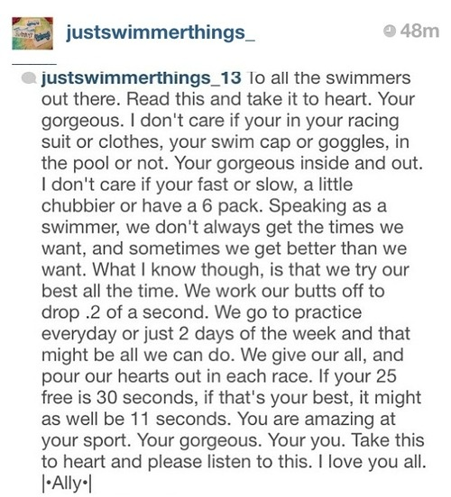 Swimmers all around the world need to read this!