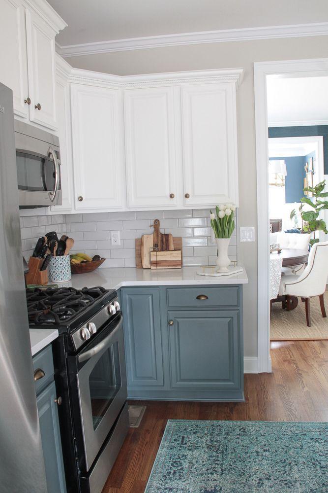 Blue And White Kitchen Renovation Reveal Decor Inspiration Diy